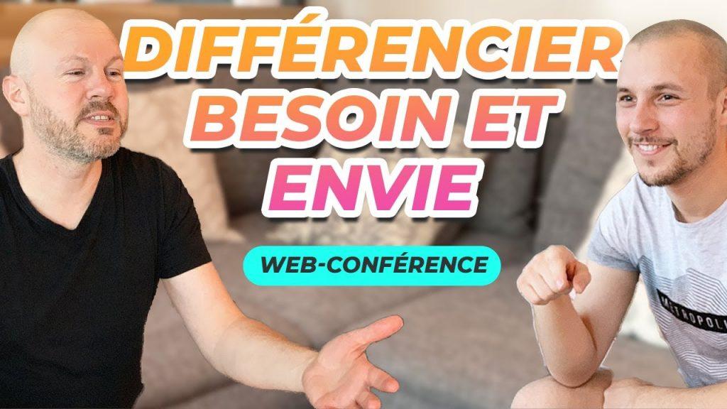 Web-conférence : Différencier ses besoins et ses envies, affirmation de soi, développement personnel, prendre soin de soi, confiance en soi